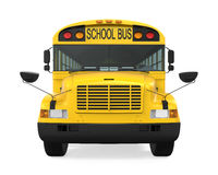 School Bus Isolated. On white background. 3D render Stock Images