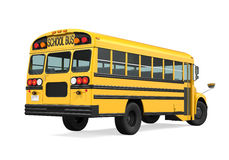 School Bus Isolated. On white background. 3D render Stock Photography