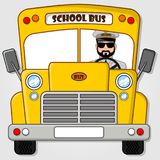 School Bus isolated on a white background. Flat style vector illustration stock illustration