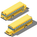 School bus isometric illustration Stock Photo