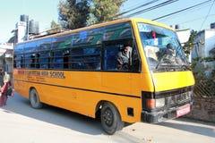 School bus in kathmandu Royalty Free Stock Photos