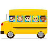School Bus Kids Stock Photos