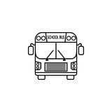 School bus line icon, student transport Royalty Free Stock Photos