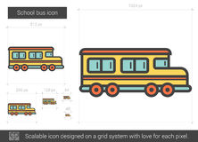 School bus line icon. School bus vector line icon isolated on white background. School bus line icon for infographic, website or app. Scalable icon designed on Stock Photography