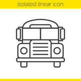 School bus linear icon Royalty Free Stock Photos