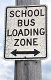 School bus loading sign Stock Photos