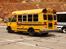 School Bus, Logan Creative Learning, Colorado Stock Photography