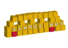 School bus made of blocks Royalty Free Stock Photos
