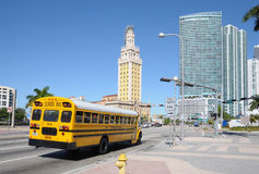 School Bus in Miami Royalty Free Stock Photos