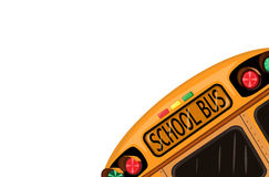 School bus over white Royalty Free Stock Image