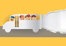 School bus paper background. Royalty Free Stock Photo