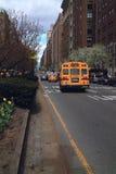 School Bus Park Avenue New York USA Royalty Free Stock Photos