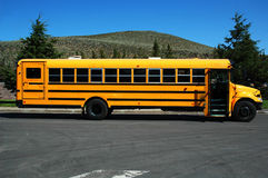 School-bus. Parked school-bus, waiting for the children royalty free stock photography