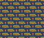 School bus pattern Royalty Free Stock Image