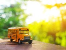 school bus plastic and metal toy model Stock Photography