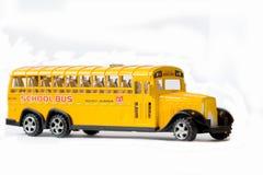 School bus. Plastic toy school bus for the children games Stock Image