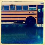 School bus in rain Stock Photography