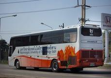 School bus of Rajamangala University of Technology Isan. CHIANG MAI, THAILAND -JANUARY 9 2018:    School bus of Rajamangala University of Technology Isan. Photo Royalty Free Stock Photography