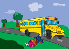 School bus on the road Royalty Free Stock Photography
