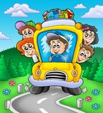 School bus on road Stock Photography