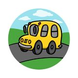School bus on road illustration Stock Photography