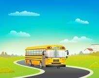 School bus on road Stock Photo