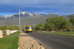 School bus in rural Utah. Stock Image