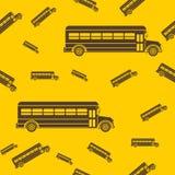 School Bus Seamless Pattern Stock Photos