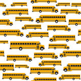 School bus seamless pattern Royalty Free Stock Photography