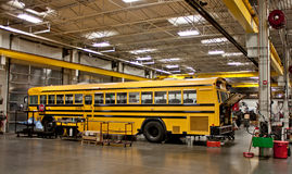 School Bus in the shop Royalty Free Stock Images