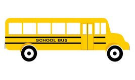 School Bus Side View. Long yellow school bus with large windows side view illustration Vector Illustration