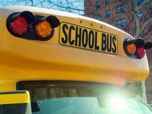 School bus sign closeup Royalty Free Stock Image