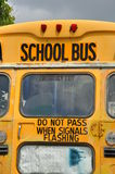 School bus sign Stock Photo