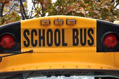 School bus. Sign on top of the vehicle Royalty Free Stock Images
