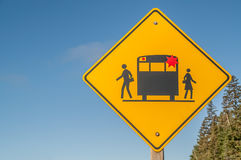 School Bus Sign Royalty Free Stock Photography