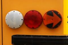 School Bus Signal Lights Stock Photos