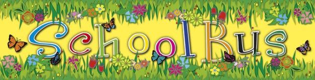 School Bus sticker Stock Image