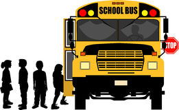 School_bus_stop Stock Photo