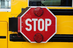 School bus stop royalty free stock images