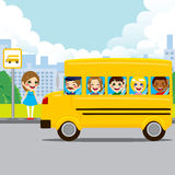 School Bus Stop Royalty Free Stock Photos