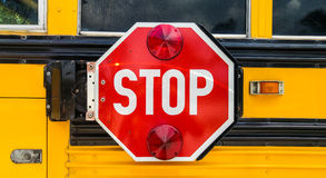 School Bus Stop Sign Royalty Free Stock Photos