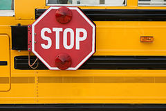School Bus: Stop Sign on Side of Bus Stock Photos