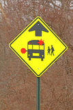 School bus stop sign upstate NY Stock Images