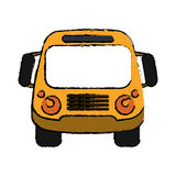 School bus student transport sketch. Vector ilustration eps 10 Royalty Free Stock Image