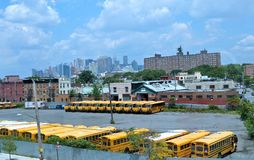 School bus terminal Stock Image