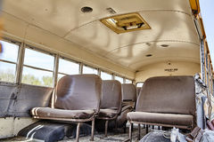 School bus torn open vihicle accident crash Royalty Free Stock Image