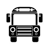 School bus transport design pictogram Royalty Free Stock Photos