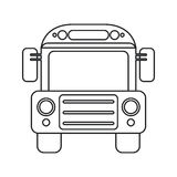 School bus transport design thin line Royalty Free Stock Photo