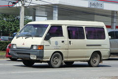 School bus van of Mae Hor Phrae School, Mitsubishi Van Stock Photos