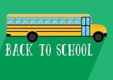 School bus vector. Back to school Royalty Free Stock Photo